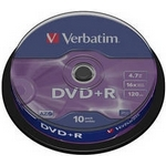Verbatim DVD+R 4,7GB 16x, AZO, spindle, 10ks